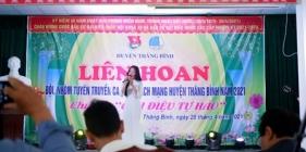 Tham gia Liên hoan đội, nhóm tuyên truyền ca khúc cách mạng huyện Thăng Bình năm 2021
